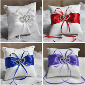 Wedding-Ring-Pillow-Cushion-Diamond-Engagement-Bearer-Double-Heart-Cushion-Party