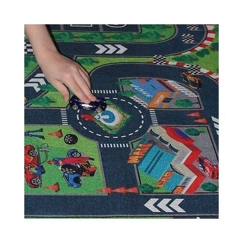 Hotwheels Mat Imaginary Road Map Matchbox Race Track Playset Toddler
