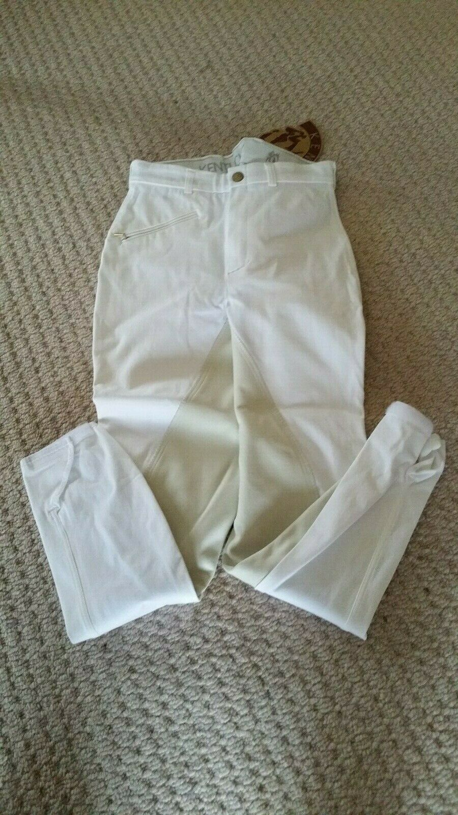 Kentucky Mexico City Ladies wit Breeches, maat 10 Long BNWT... Stock Clearance