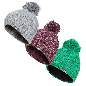 Trespass-Epstein-Girls-Boys-Winter-Pom-Pom-Beanie-Hat-With-Fleece