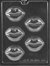 LARGE LIP COOKIE PIECES MOLD V175 plaster soap bachelor party lips oreo
