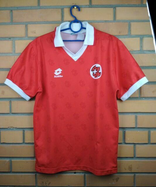 Switzerland Jersey 1994 1996 Home M Shirt Football Lotto Trikot Maglia Soccer