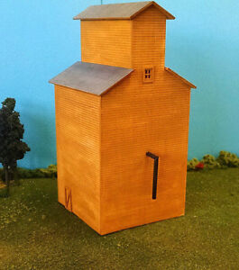 HO-SCALE-Custom-Laser-Cut-Grain-Elevator-Kit
