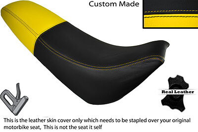 BLACK & YELLOW CUS FITS URBAN DZ 125 LEATHER DUAL SEAT COVER ONLY