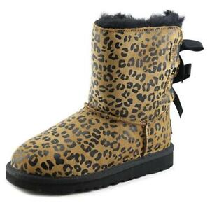 f3abbbdec72 Details about Ugg Bailey Bow Leopard 1008217T-CHE Chestnut Toddler Boots