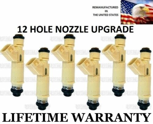 6x UPGRADE OEM Denso 12Hole Fuel Injectors For 01 TO 03 Infinity QX4  3.5L