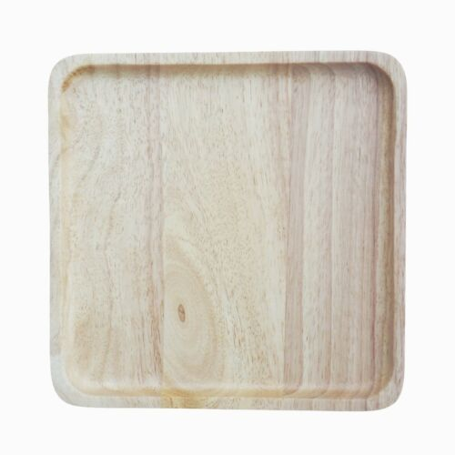 Square Wood Plate Wooden Dishes Serving Food /& Beverage New Plates Tray 8 inch