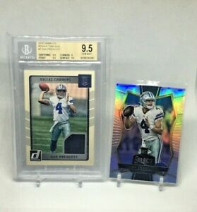 2016-Dak-Prescott-Donruss-Rookie-Bgs-9-5-amp-Select-Silver-Rookie-Lot-X-2-MINT
