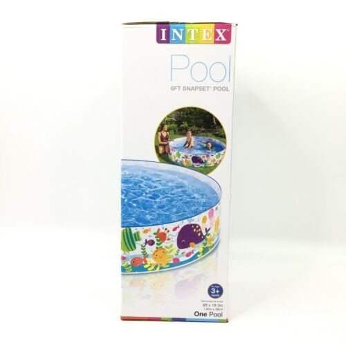 Intex 6ft x 15in Snapset Kids Pool W Sea Creature Decoration Ages 3 BRAND NEW