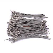 "100PCS/set 6"" Stainless Steel 2mm Strong Wire Keychain For Camping Survival Gear"