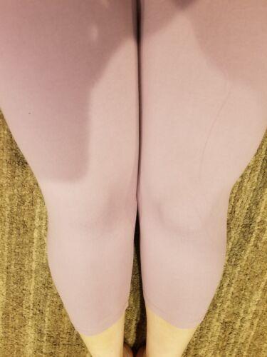 One Size OS Capri Leggings Creamy Soft Solid Lavender Summer Sizes 0-12