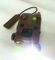 Battery Case Peq-15 Led Flashlight + Green Laser + Wire Remote Control (tan)