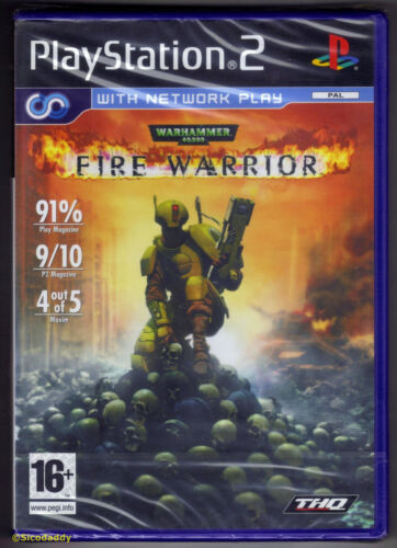 1 of 1 - PS2 Warhammer 40000 Fire Warrior (2003), UK Pal, Brand New & Sony Factory Sealed