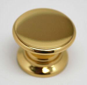 AMEROCK-Allison-Solid-Polished-Brass-1-034-Cabinet-Cupboard-Door-Knob-25-FREESHIP