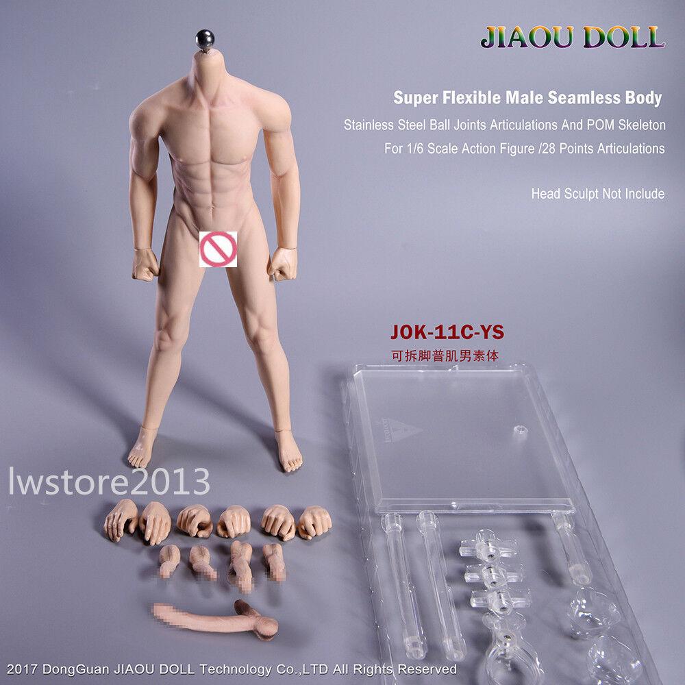 1 6 Male Figure Body Steel Skeleton Flexible Seamless Tan Skin Toys JOK-11C-YS