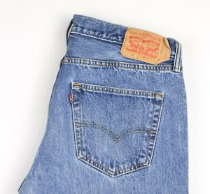 Levi-039-s-Strauss-amp-Co-Hommes-501-Jeans-Jambe-Droite-Taille-W36-L30-AVZ565