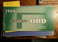 1968 Ford Automobile Owner's Manual Galaxie & Owner's Manual