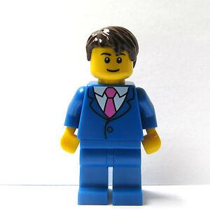 Lego-Minifigur-blau-Anzug-Pink-Krawatte-Braeutigam-Usher-Trauzeuge-Hochzeit-Business