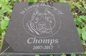 "Personalized Laser Engraved 6""x6"" Granite Pet Memorial Plaque/Marker"