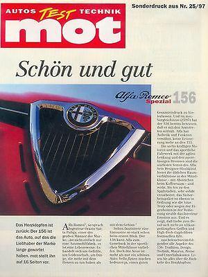 2019 Mode Alfa Romeo 156 Sonderdruck Mot 25/97 1997 Test Reprint Autotest Auto Einfach Und Leicht Zu Handhaben