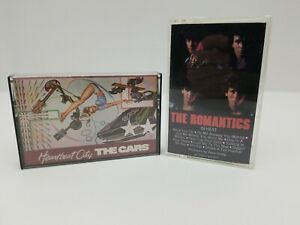 Rock-Cassette-Tapes-Lot-of-2-The-Cars-Heartbeat-City-amp-The-Romantics-In-Heat