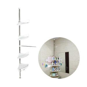 Telescopic Pole Corner Shelf Bathroom Shower Storage Tripod Rack Organizer Caddy Ebay