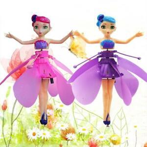 Flying-Volent-Fee-Filles-Jouet-Enfants-Poupee-Rose-Ailes-Controle-Jouet-Volant