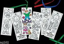 Mom Bookmarks Color Your Own Set of 3 W/ribbon ABCraft