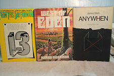 lot vtg old SCI FI WEST OF EDEN FRIDAY 13 FROM THIS DAY FORWARD ANYWHEN BLISH