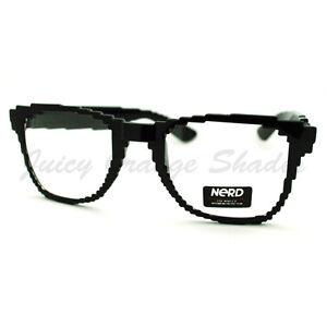 pixel pixelated eyeglasses clear lens digital image