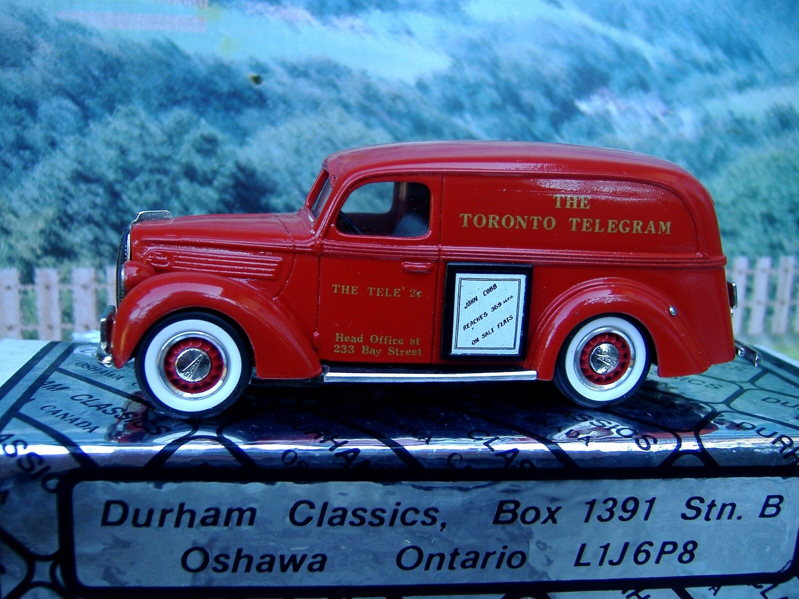 1 43  Durham classics Ford 1939 panel delivery  Toronto toy show 1987