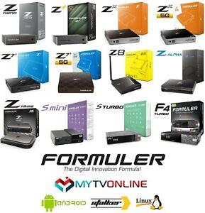 FORMULER GTV CC Z8 PRO Z+ NEO Z ALPHA Z7+5G Z7+ ZX5G Z+ Z PRIME F4 TURBO Z NANO