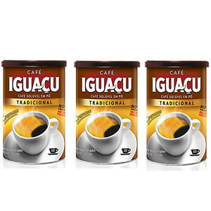 Brazilian-Instant-Coffee-IGUACU-Dried-Coffee-Powder-100g-x-3Cans
