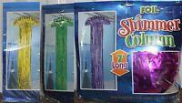 3-set Mardi Gras Shimmer Columns Green Gold Purple Hanging Party Decoration