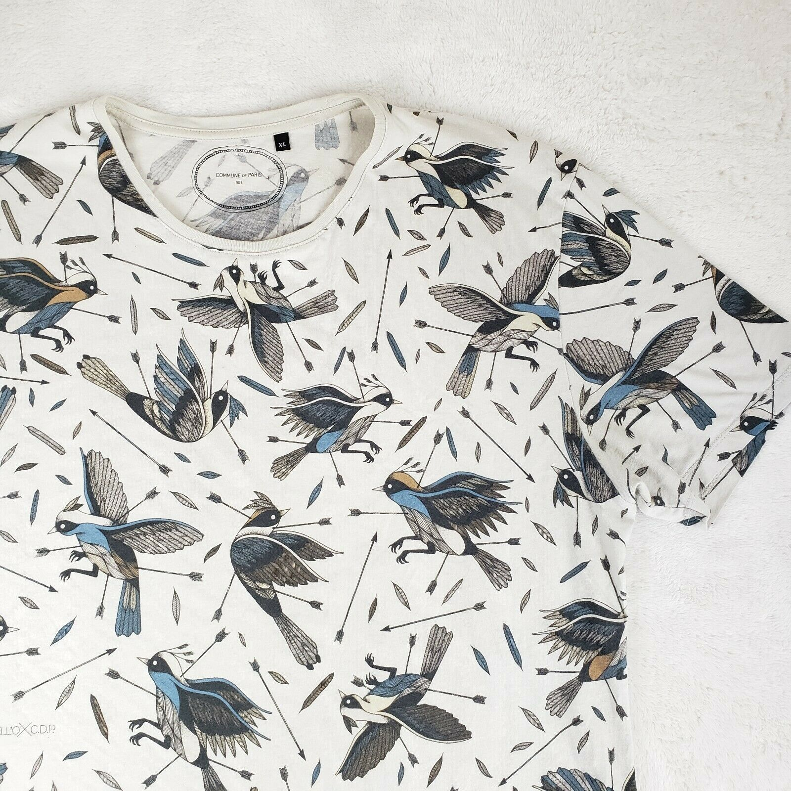 Commune De Paris Mens T-shirt Tee S/S Shirt RARE … - image 3