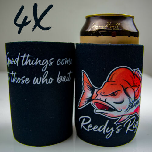 4x Stubby Holder Beer Cooler Drink Novelty Gift  Dad Fishing Day Snapper Reedy/'s