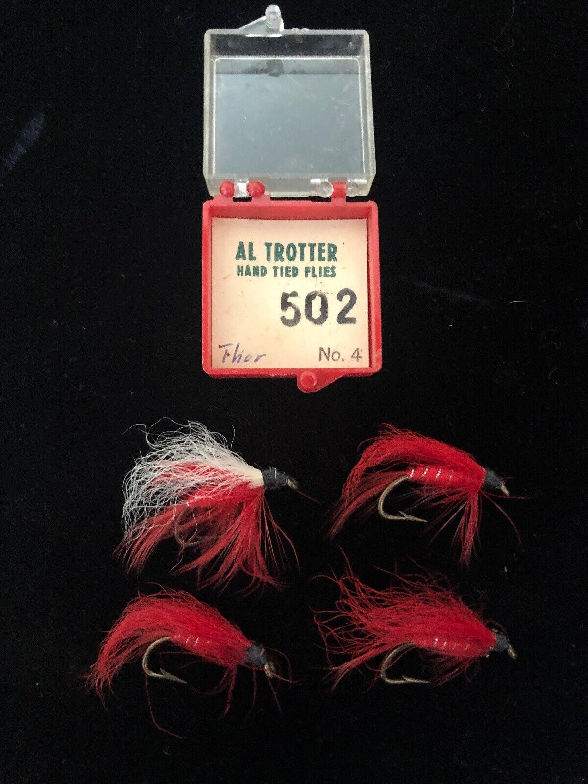 Original Extremely Rare Flies Tied By Al Trotter Thor No. 4 rot
