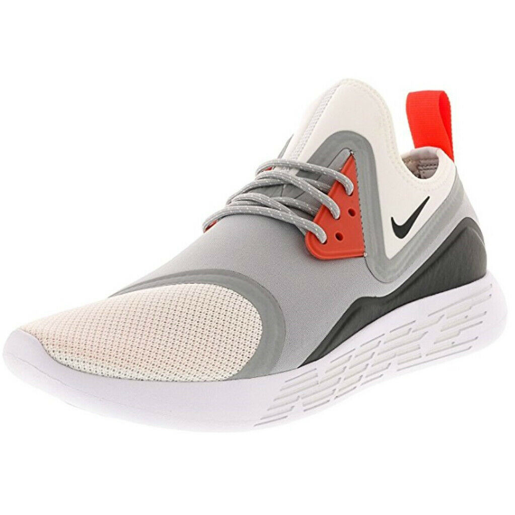 NIKE Men's Lunarcharge Essential, Wolf Grey White-Black SIZE 9.5