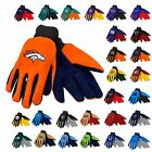 NFL Football Team Logo Colored Palm Mens Work Utility Gloves, One Size, All Team