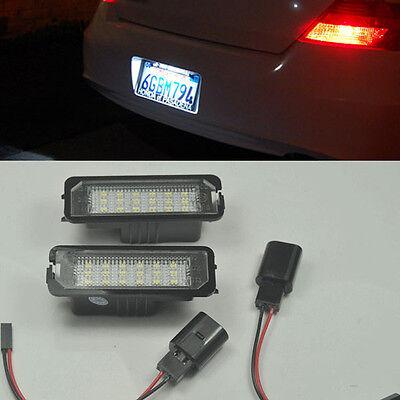 2x Error Free Led License Number Plate lamp light For VW GOLF MK4 MK5 EOS POLO