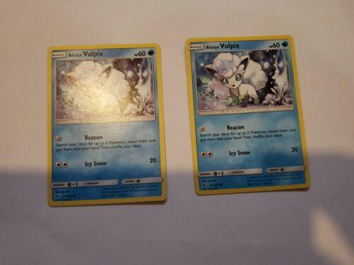 2x Alolan Vulpix Card Pokemon Guardians Rising 21//145 Non-Holo