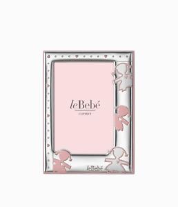 Cornice-piccola-femmina-argento-bilaminato-leBebe-LB204-9DR-nuovo-garanzia