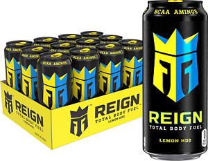 Reign Total Body Fuel Lemon HDZ Fitness & Performance Drink 16 Ounce Pack of 12