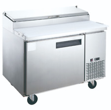 New 1 Door 44 Refrigerated Pizza Prep Table Stainless Cooler Dukers Dpp44 2194
