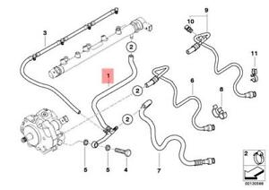 s l300 genuine bmw e46 cabrio fuel injection system return line oem