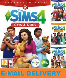 The-Sims-4-4-DLC-Collection-Digital-Download-Account-PC-MAC-MULTILANGUAGE
