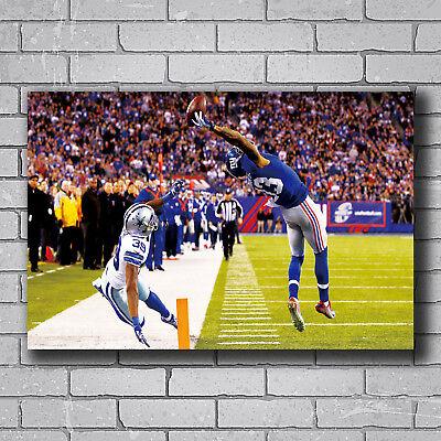 American Football Wide Receiver Hot Poster Art 20x30 24x36 N-593 Odell Beckham