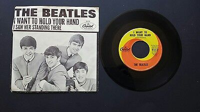 The Beatles- I Want To Hold Your Hand EX 45 Picture Sleeve