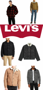 Levis-Sherpa-Jacket-Denim-Trucker-Jackets-Black-Blue-Gray-Khaki-Beige