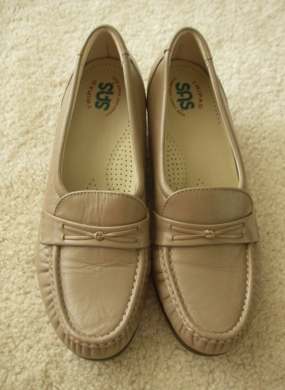 SAS EASIER WOMENS COMFORT SLIP ON SHOES LOAFERS TAUPE  Sz. 8 N